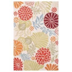 Indo Hand-tufted Ivory/ Olive Wool Rug (5' x 8')