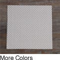 Heavy Weight Cross Weave Contemporary Woven Vinyl Placemat (Set of 4)