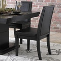 ETHAN HOME Weston Black Baseball Stitching Side Chairs (Set of 2)