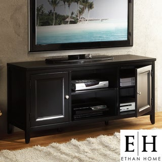 ETHAN HOME Roslevan Black 2-door 50-inch TV Media Stand