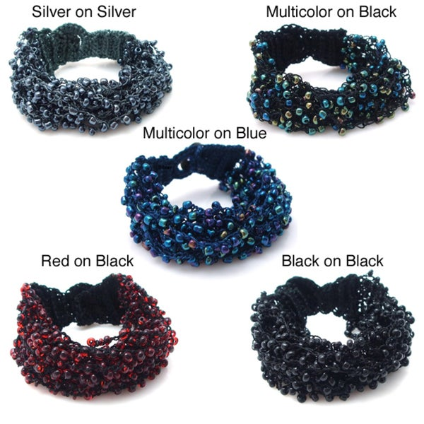 Multi Strand Streamers Multi Color Beads Toggle Bracelet (Philippines)