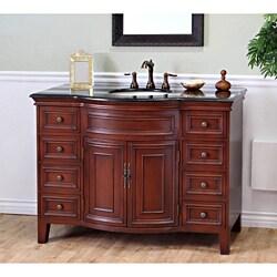 Single Sink Wood Vanity with Black Granite Top