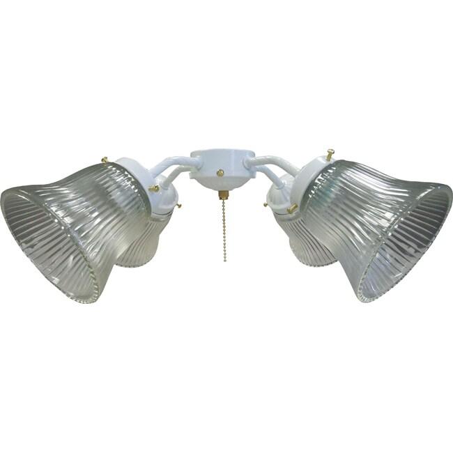 Four Light White Fan Light Kit