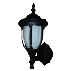 One Light Black Wall Lantern