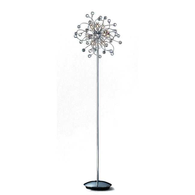 Joshua Marshal Home Collection Funky 12-light Chrome Crystal Floor Lamp