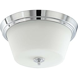 Bento Chrome with Satin White 2-light Semi-flush Fixture