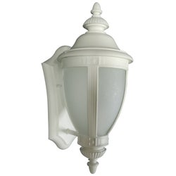 One-Light 100-Watt White Wall Lantern
