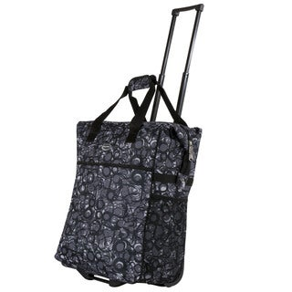Lightweight Calpak 'Big Eazy' 20-Inch Washable Rolling Shopping Tote Bag