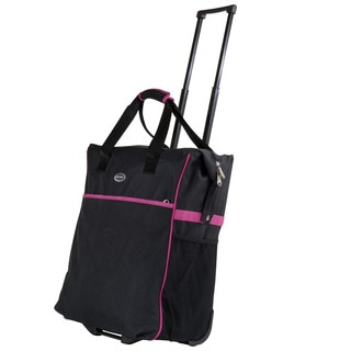 Calpak 'Big Eazy' 20-inch Washable Black Rolling Shopper Tote