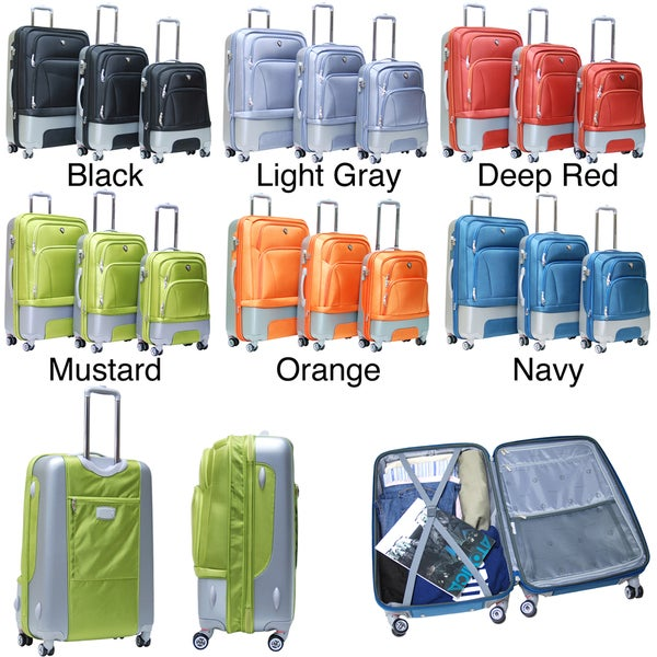 Calpak Lafayette 3-piece Expandable Hardside Luggage Set