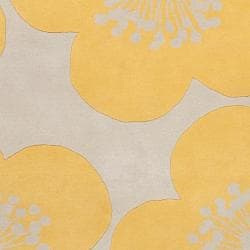 Aimee Wilder Hand-tufted Florence Quince Yellow Floral Wool Rug (2' x 3')