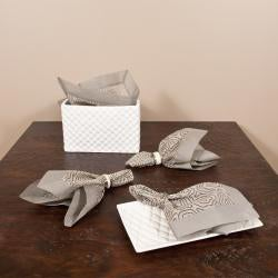 Linea Collection Organdy Grey Placemat/Napkin Set