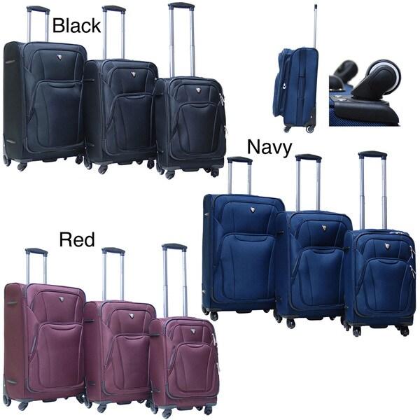 Calpak Barclay 3-piece Lightweight Expandable Softside Luggage Set