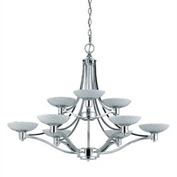 Contemporary 9-light Polished Chrome Chandelier