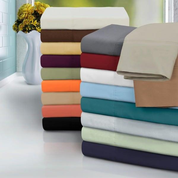 Microfiber Solid Plain 100-percent Wrinkle-free Sheet Set