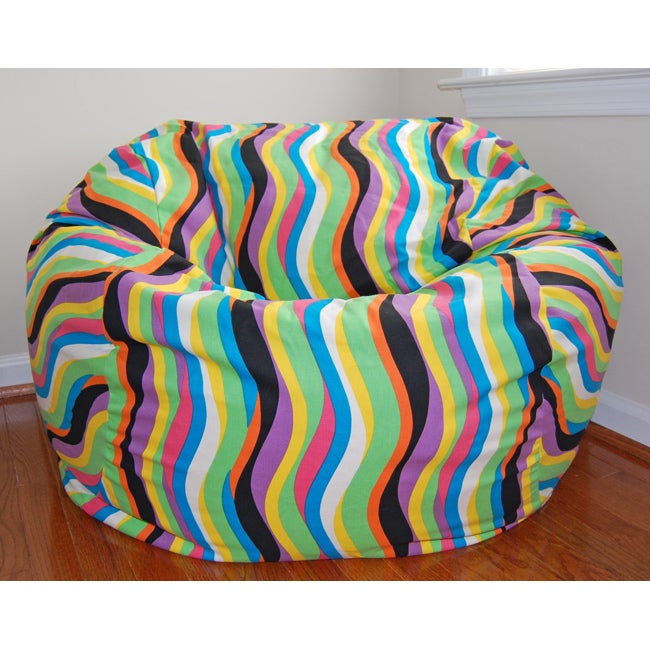 Ahh Products 36 Inch Wide Wavelength Jelly Bean Cotton Washable Bean Bag Chai