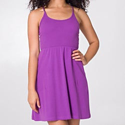 American Apparel Women's Organic Baby Rib Cross-back Dress