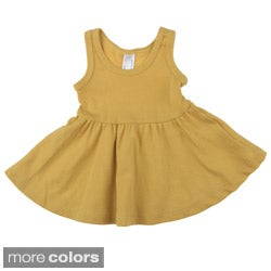 American Apparel Baby Organic Rib Skater Cotton Tank Dress