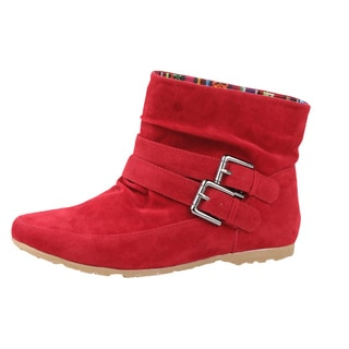 Modesta by Beston Women's 'Toto-01 Red Boots