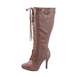 Modesta by Beston Women's 'Paris-02' Brown Knee-high Boots