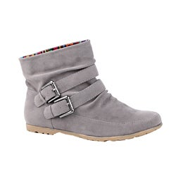 Modesta by Beston Women's 'Toto-01 Grey Ankle Boots