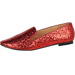 Modesta by Beston Women's 'Mika-02' Red Glitter Flats