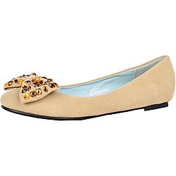 Modesta by Beston Women's 'Judy-01' Tan Flats