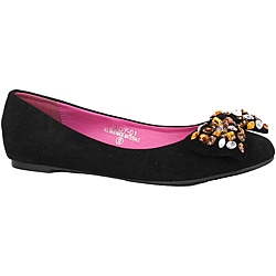 Modesta by Beston Women's 'Judy-01' Black Flats