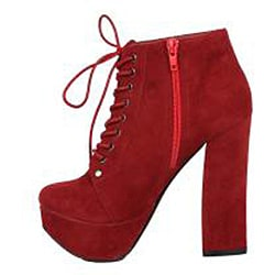Modesta by Beston Women's 'Tomo-01' Red Lace-up Booties