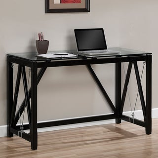 Contemporary Black Cable Accent Desk