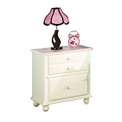 Zoe Night Stand with Solid Pink Top