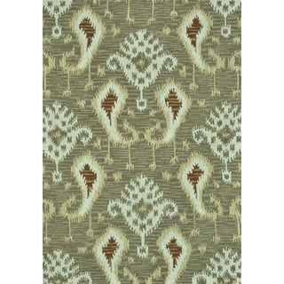 Hand-tufted Montague Taupe Wool Rug (7'10 x 11)