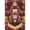 Montague Red Wool Rug (5' x 7'6)