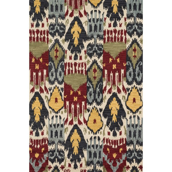 Hand-tufted Montague Ivory/ Multi Wool Rug (7'10 x 11)