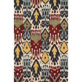 Montague Ivory/ Multi Wool Rug (7'10 x 11)