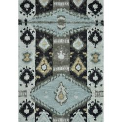 Montague Slate Blue Wool Rug (5' x 7'6)