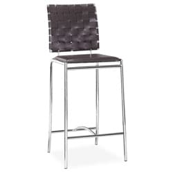 Criss Cross Espresso Counter Chair (Set of 2)