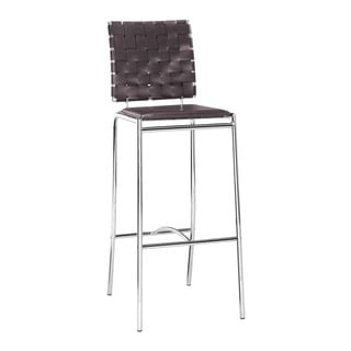 Criss Cross Espresso Bar Chair (Set of 2)
