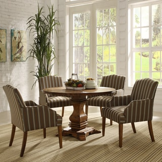TRIBECCA HOME Kylie Rustic Brown Oak 5-piece Traditional Euro Dining Set