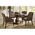 Kylie Rustic Brown Oak 5-piece Traditional Euro Dining Set