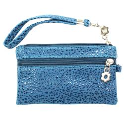 Fashion PU Multi-purpose Wallet / Coin Purse Blue Splash Design