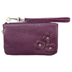 Fashion PU Multi-purpose Wallet / Coin Purse Purple Floral Design