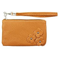 Fashion PU Multi-purpose Wallet / Coin Purse Brown Floral Design