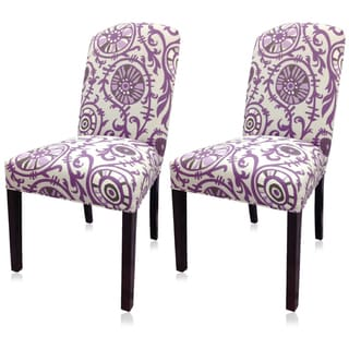 Sole Designs Purple Passion Camelback Chair (Set of 2)