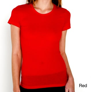 American Apparel Women's Sheer Jersey Cap Sleeve Tee