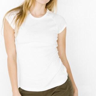 American Apparel Women's Baby Ribbed Cap Sleeve Raglan