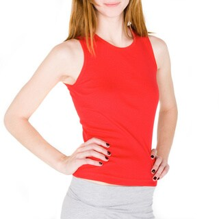 American Apparel Baby Rib Sleeveless Crew Neck Top