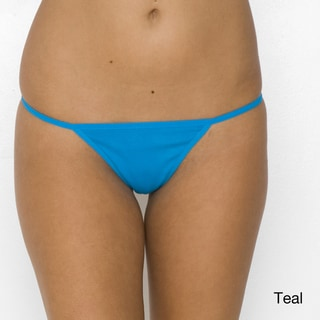 American Apparel Women's Baby Rib Thong