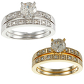 14k Gold 1ct TDW Round Diamond Bridal Ring Set (H-I, I1-I2)