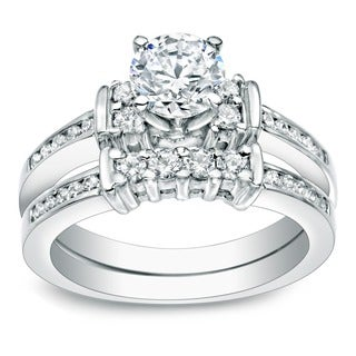 Auriya 14k Gold 1ct TDW Round Diamond Bridal Ring Set (J-K, I1-I2)